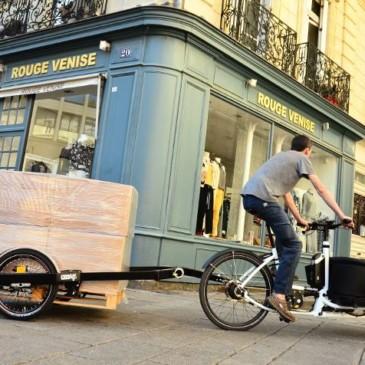 Nytt sätt att transportera lastpallar med cykel