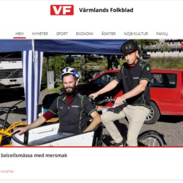Värmlands folkblad: artikel om oss … och lite annat