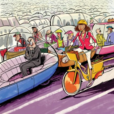 The Vehicle of the Future Has Two Wheels, Handlebars, and Is a Bike