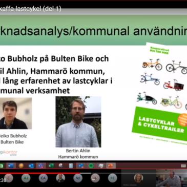 """Webbinarium: """"Att införskaffa lastcykel"""" (som kommun)"""