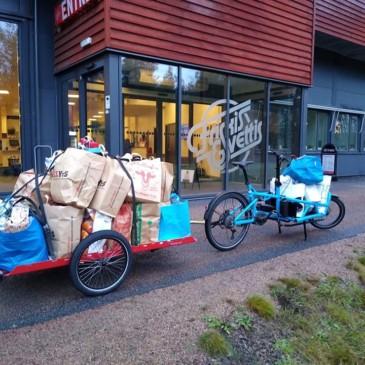 Rudolf the (red nosed?) cargo bike