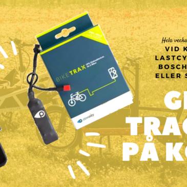 Firar Cykelns dag vecka med oss – gratis GPS tracker