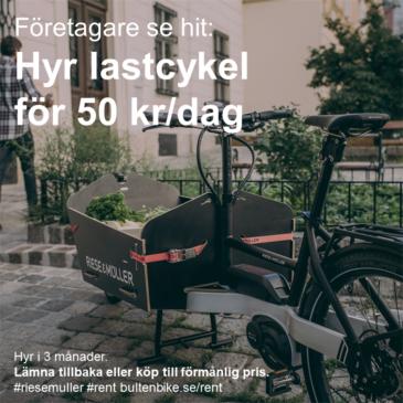 Företagare se hit! Hyr cykel för 50 kr/dag